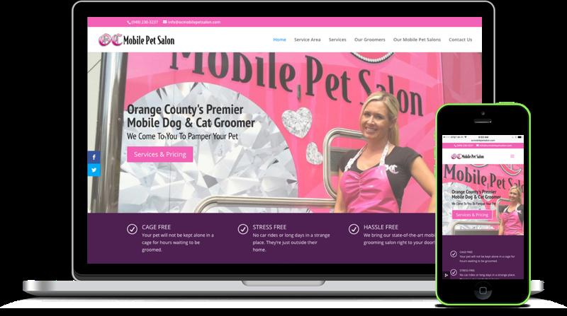 Example website using Megology.